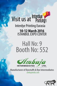 Visit us at Interdye Eurasia , Istanbul Turkey